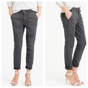 J. Crew gray skinny utility cargo pants twill 28